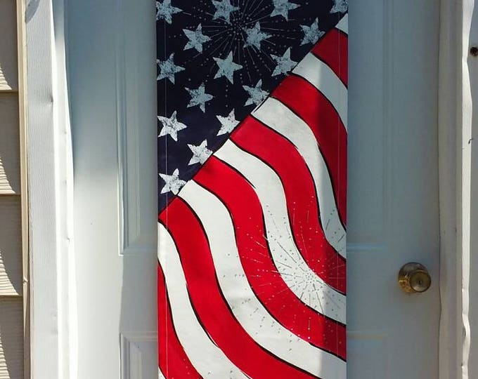 American Flag door hanger