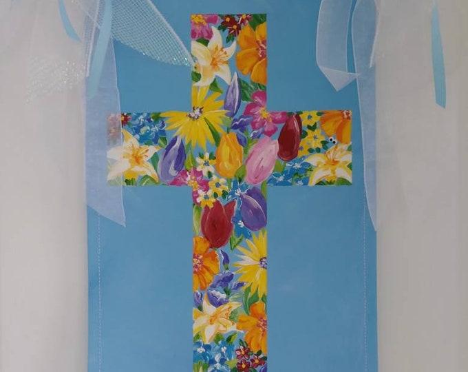 Easter Cross Religious Easter Cross Spring Religious Floral Cross