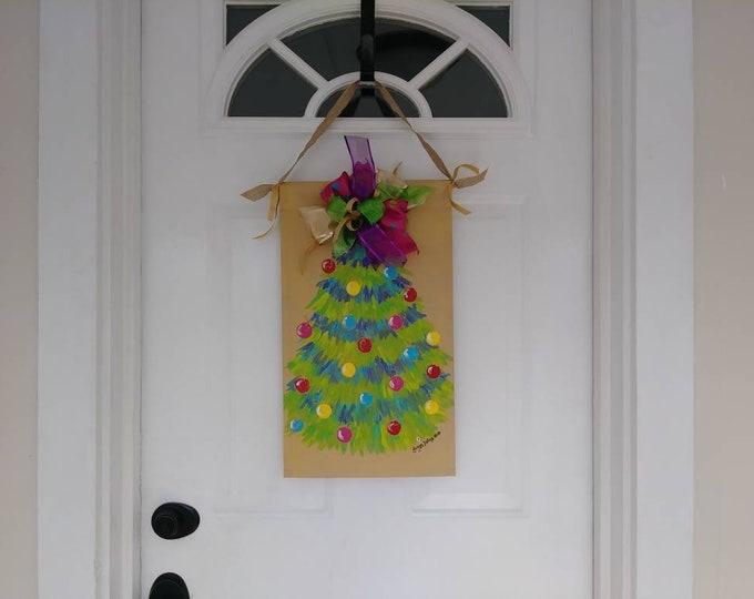 Christmas Tree Door Hanger Garden Flag