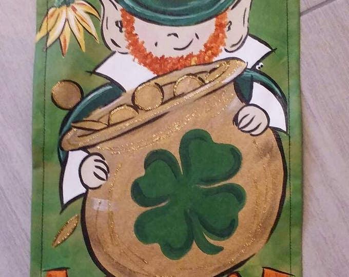 St Patrick's Day Door Hanger Garden Flag Happy St Patty's Day Door Hanger Decoration