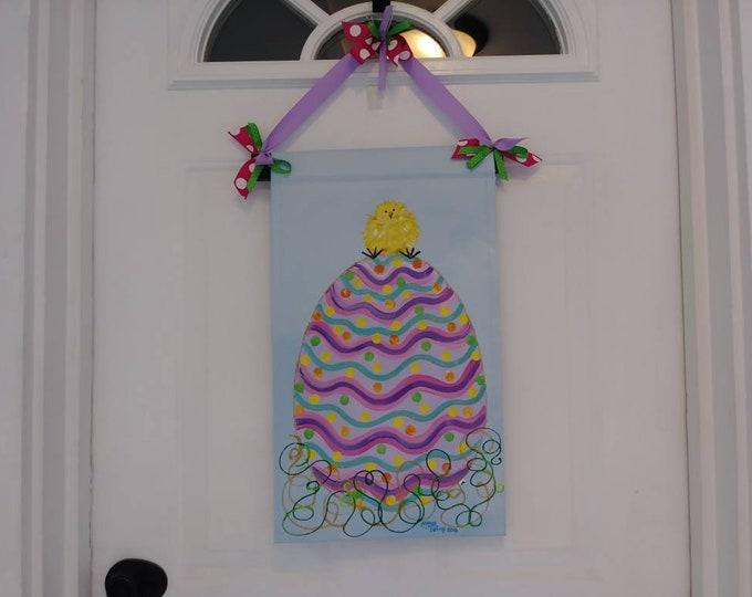Easter Egg and Peep Door Hanger Garden Flag