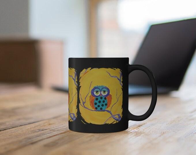 Fall Halloween Owl mug 11oz.