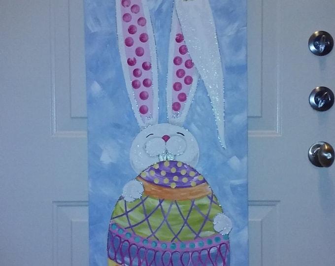 Easter Bunny Door Hanger Door Decor Easter Door Hanger Decoration Easter Wreath