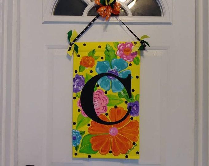 Bright Flowers with Monogram