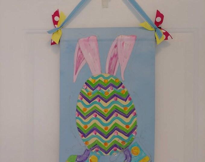 Eggstatic Egg Easter Egg Door Hanger Garden Flag