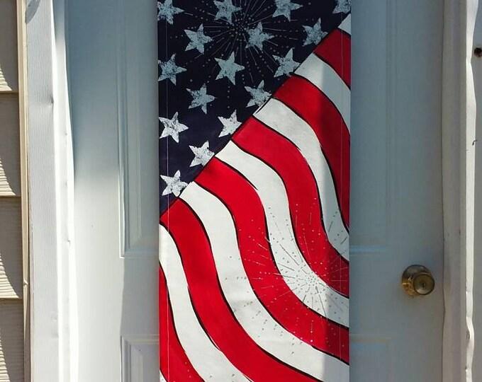 American Flag Door Hanger Patriotic Door Hanger Decoration Stars and Stripes Door Hanger Wreath