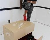 Giant christian louboutin shoe box ,high heels , storage box, nike,jordan shoebox case