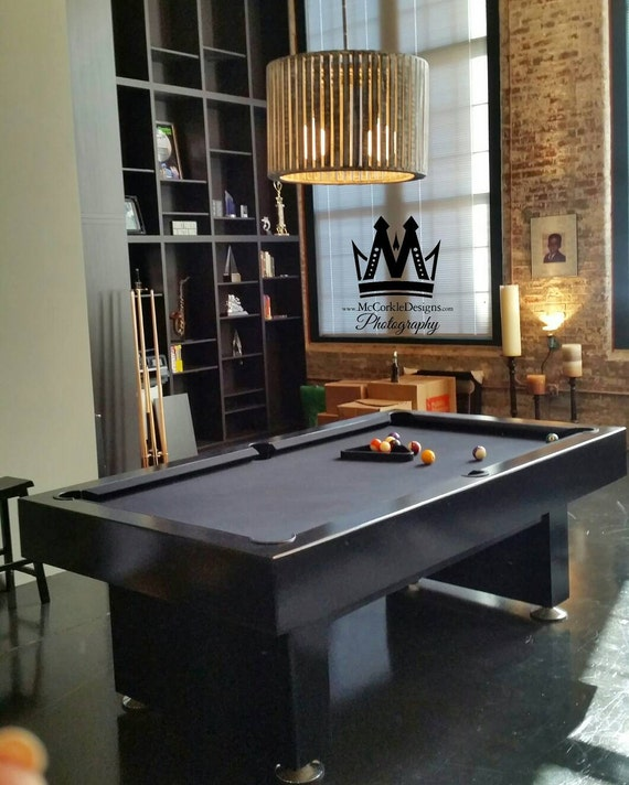 The Victoria Style 8ft Modern Pool table with Black Lacquer | Etsy