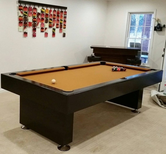 8ft Billiard Pool Table Game Finished In A Dark Espresso | Etsy