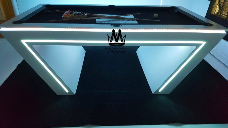 Cool Pool Tables >> Virtual Reality Vr Pool Table Glow In The Dark Pool Table Etsy