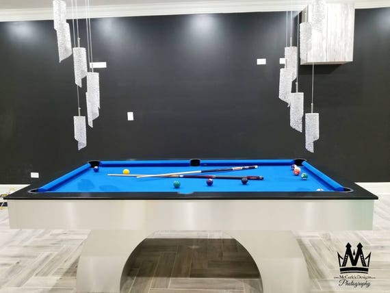 Elegant And Sleek Arched Pooltable With Stainless Steel Etsy - Sleek pool table