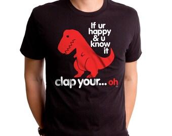 c7d6f21b Sad T Rex Men's T-shirt (GT2339-101BLK) Dino shirt, funny dino shirt, funny  men's t-shirt, nerdy dinosaur, mens gift, geeky gift, dinosaur.