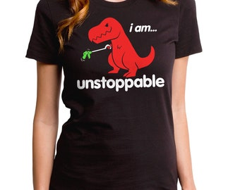 f0519742 Unstoppable Girl's T-Shirt (GT3300-102BLK) Funny dino shirt, funny t-shirts,  dinosaurs, toy grabber tee, T Rex shirt, dinos, red dino tee