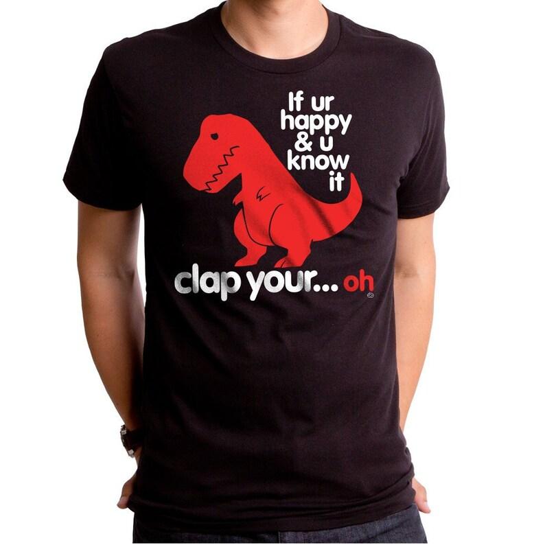 54ba3c77 Sad T Rex Men's T-shirt GT2339-101BLK Dino shirt funny | Etsy