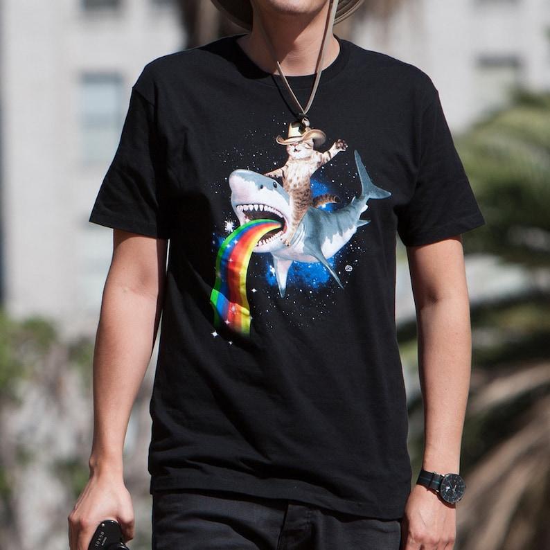 2c118ccd Bucking Sharkaroo Men's T-shirt GT4780-101BLK Cowboy | Etsy