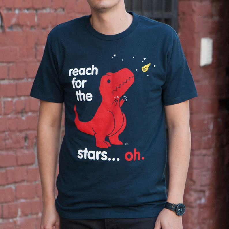 7f5fa2305d Reach For The Stars Men's T-Shirt GT7618-501NVY Dino | Etsy