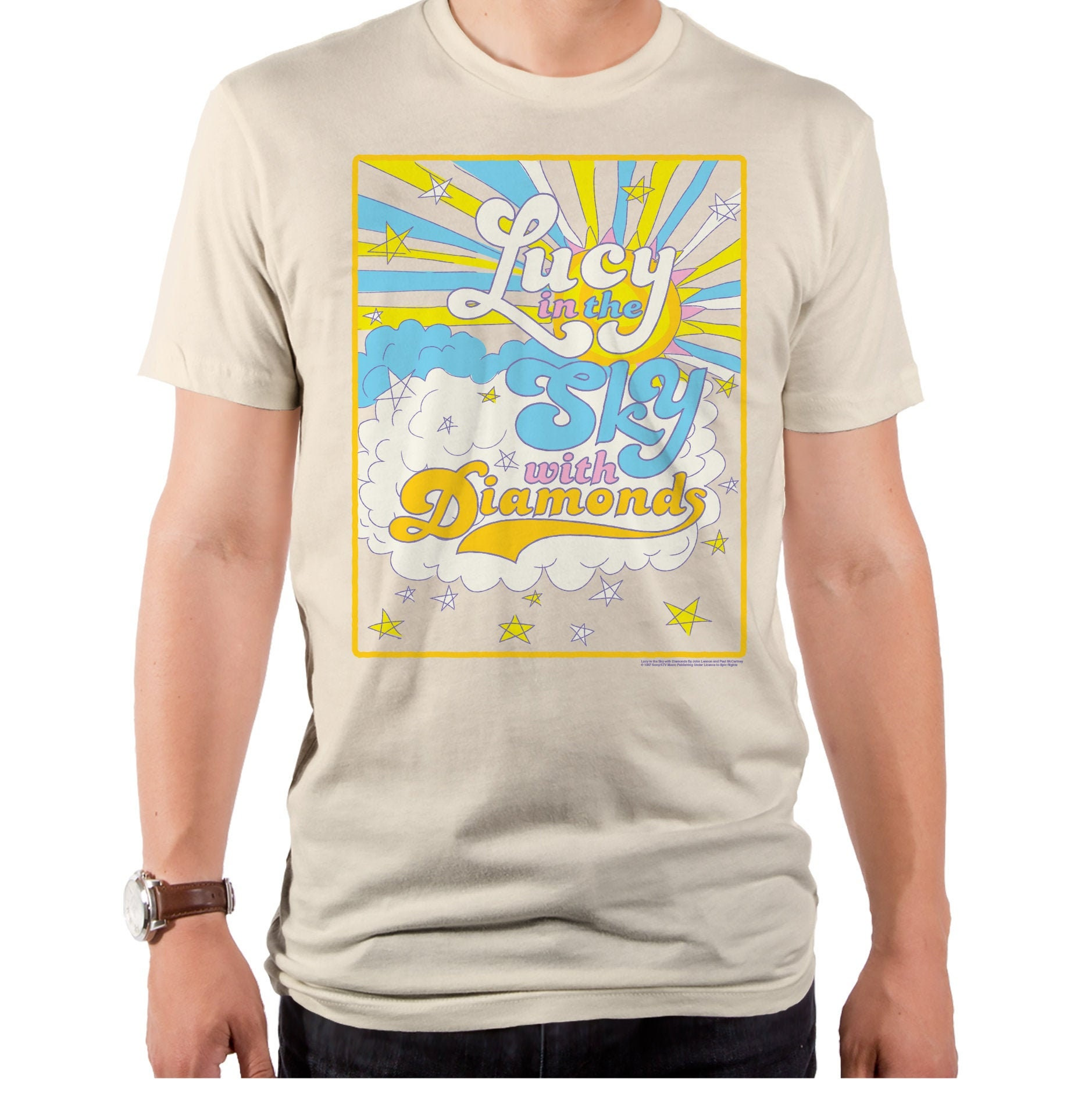 1960s – 70s Men's Ties | Skinny Ties, Slim Ties Lucy in The Sky Mens T-Shirt  Llm0004-501Ofw Lennon  Mccartney, Music, Lyrics, English Musicians, 1960S, Compositions, British Invasion $27.95 AT vintagedancer.com