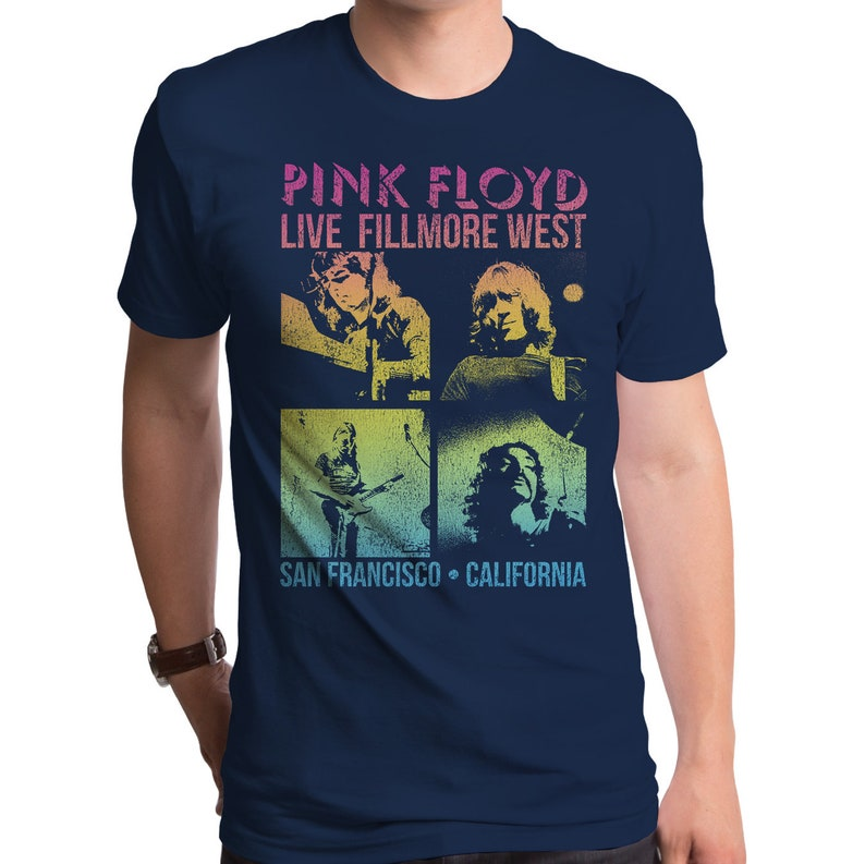 f5f683012774ce Pink Floyd Ombre Floyd Men's T-Shirt PNK0276-101NVY | Etsy