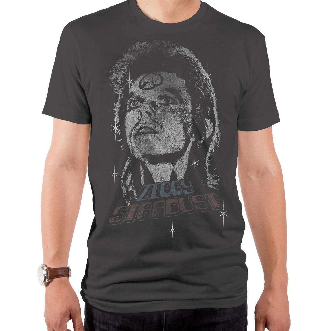 1970s Men's Shirt Styles – Vintage 70s Shirts for Guys David Bowie Ziggy Vintage Mens T-Shirt  Bwe0384-101Hmt Stardust, Reflect, Vision, 1980S, Lets Dance, 1970S, English Singer, Music $13.97 AT vintagedancer.com