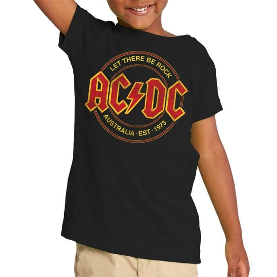 AC//DC Kids T Shirt Classic Band Logo let There be Rock Official Ages 1-12yrs