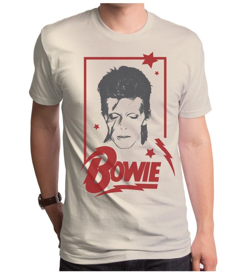 c9a56f59a225 David Bowie Aladdin Frame Men's T-Shirt BWE0105-101CRM | Etsy