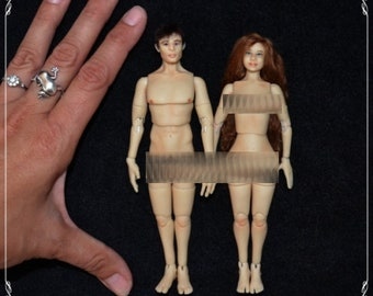 1/12 bjd doll - real proportions - OOAK custom made - COUPLE - mature content