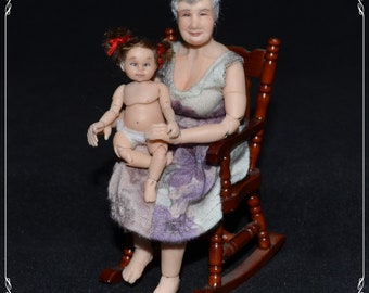 1/12 bjd GRANDMA doll - real female proportions - OOAK custom made - mautre content