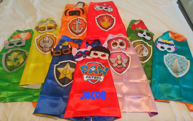 a193be580 PERSONALIZED Paw Patrol Cape Paw Patrol Birthday Party | Etsy