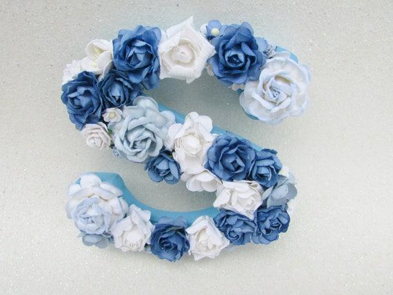 Flower letter floral letter s custom name letter nursery etsy image 0 mightylinksfo