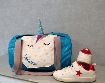 Sports bag Unicorn glitter-child-Unicorn - Unicorn bag bag duffel bag