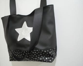 AVAILABLE star leather tote hand bag