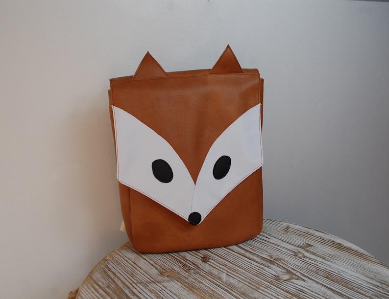 Kindergarten-cartable Renard-backpack Fox-satchel leatherette-Silver Pink-girl bag-satchel with first name-backpack first name
