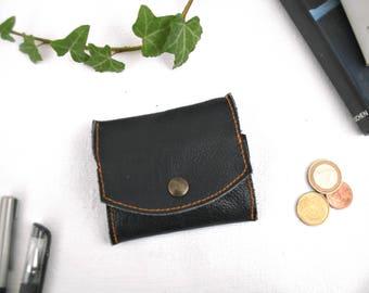 Leather purse, black leather purse, man purse, woman purse, men's gift, women's gift, men's leather goods,women's leather goods,elegant gift