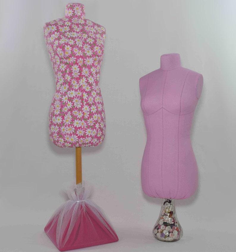 Stuffed Fabric Half Scale Dress Form Pattern - Digital PDF