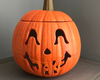 Personalized Ceramic Pumpkin with First Name