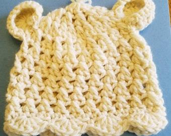e0923974718 Crocheted Camel Merino Wool Infant Toddler Hat