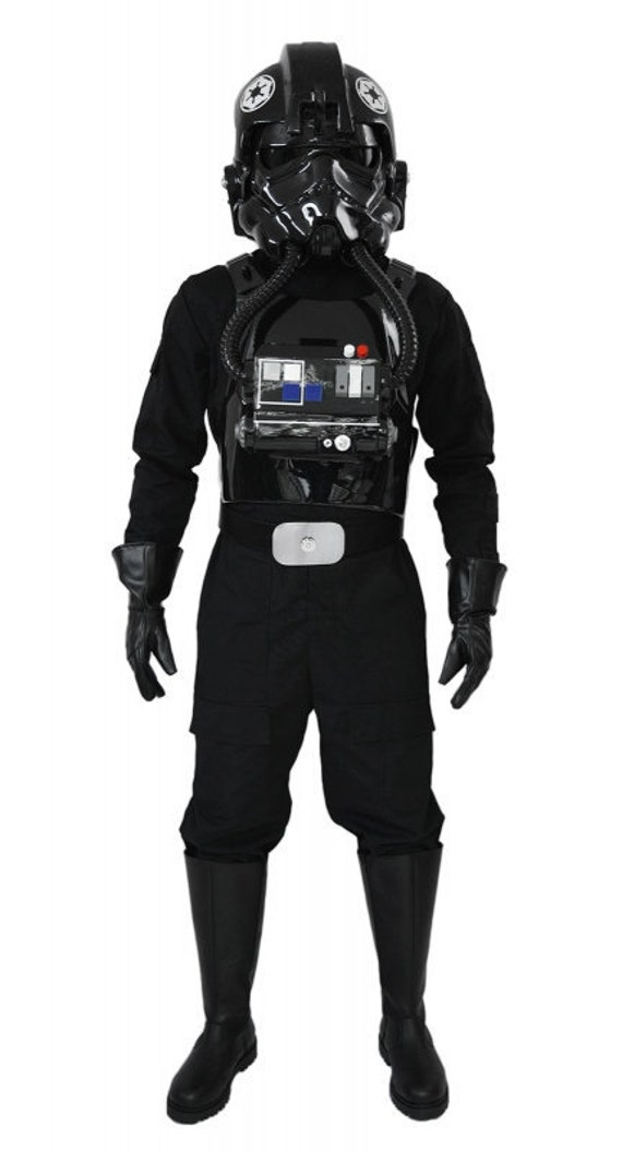 Great Quality from UK Star Wars Tie Pilot Costume Jumpsuit with Patches