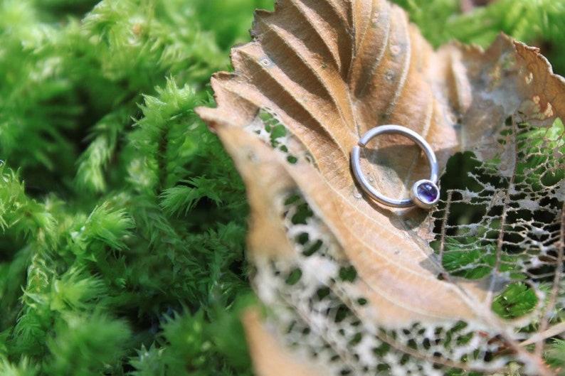 Gemstone Septum Ring