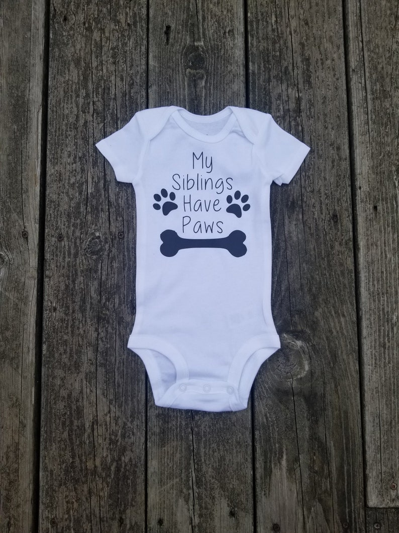 f7ddd80d6 Fur Babies-Baby Shower Gift-My Siblings Have Paws Baby | Etsy