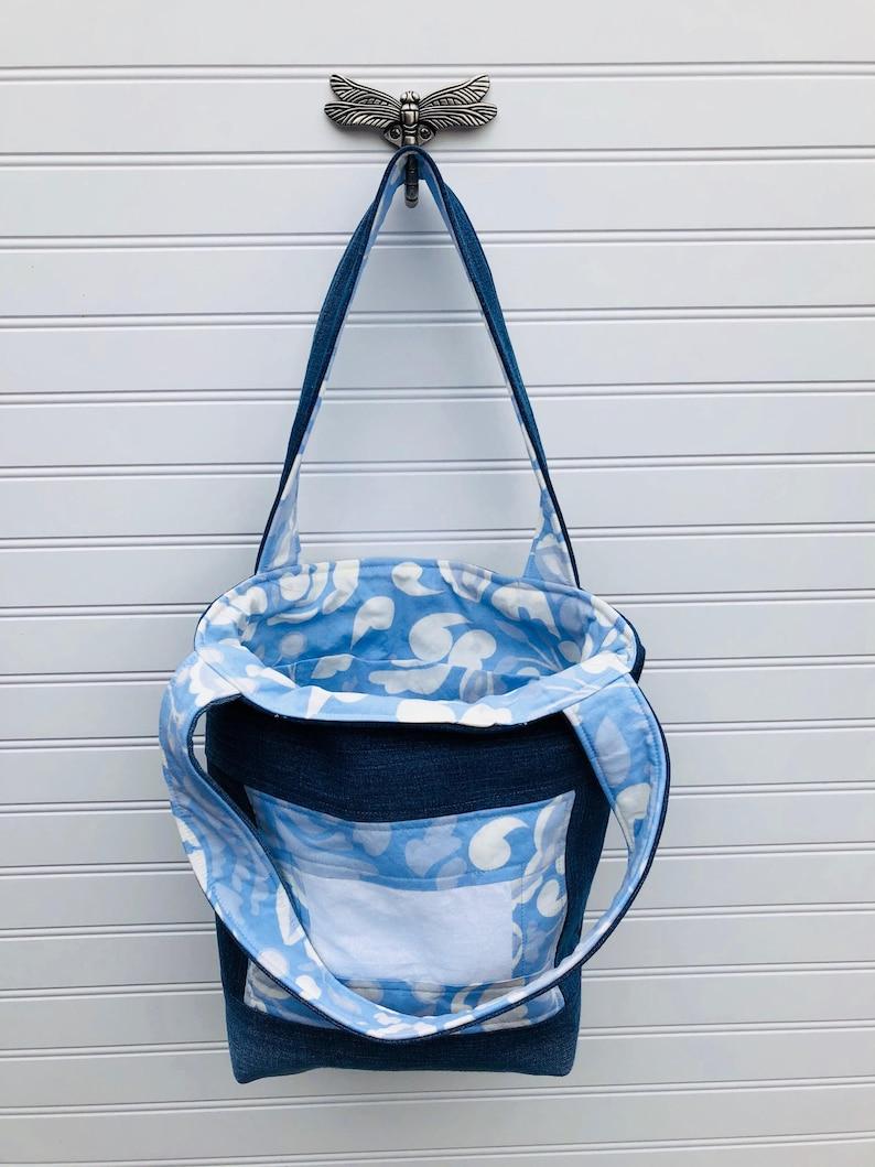 Medium Tote Bag Quilted Tote Bag Fabric Tote Bag Bible Tote Bag Up-cycled Tote Bag