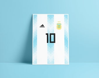 d795d9ba447 Items similar to Argentina World Cup Shirt Football Kit For Russia ...