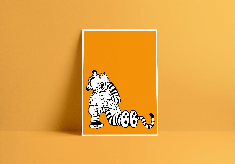 Calvin & Hobbes Art Print | Etsy