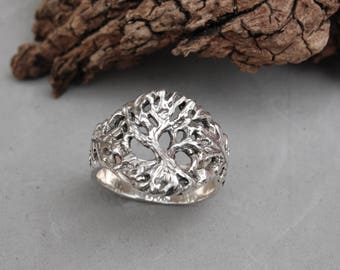 Tree of Life Ring Sterling Silver Size 7 1/2 Hand Made