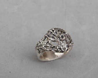 Tree of Life Ring Sterling Silver Size 9 1/2 Hand Made