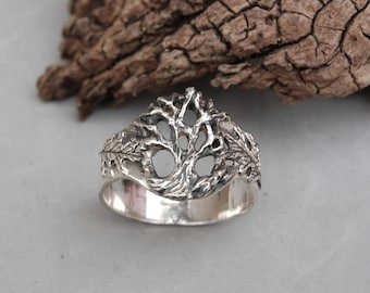 Tree of Life Ring Sterling Silver Size 12 1/2 Hand Made