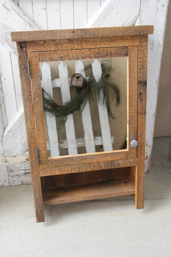 Beau Rustic Barnwood Cabinet Barnwood Medicine Cabinet Wood | Etsy