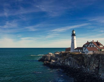 Photography Print of The Portland Head Light Lighthouse in Cape Elizabeth, Maine