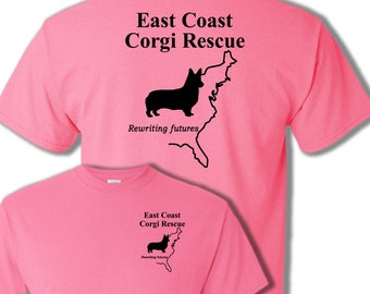 ECCR East Coast Corgi Rescue Fundraiser T-shirt - Help Support  This wonderful CORGI RESCUE with your purchase