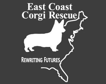 ECCR East Coast Corgi Rescue Fundraiser Vinyl Decal - All Profits go to help support this wonderful cause!