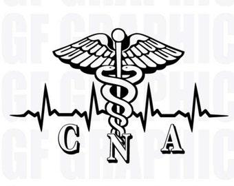 nursing assistant etsy Home Health Care Nurse Resume cna certified nursing assistant heartbeat vinyl decal jb058